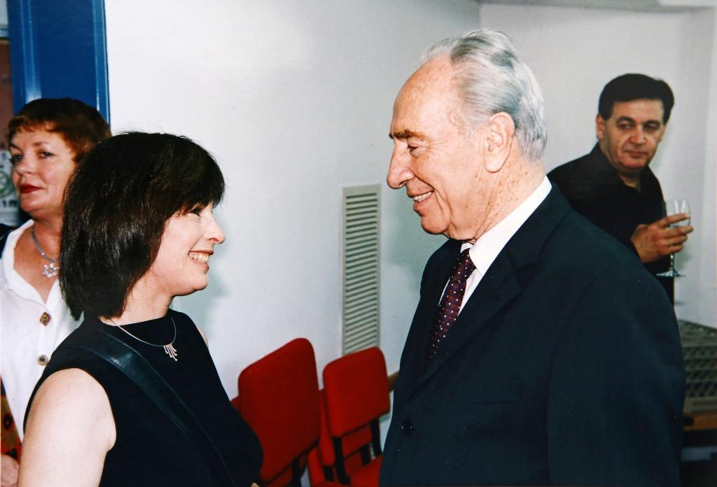 נורית עם הנשיא שמעון פרס