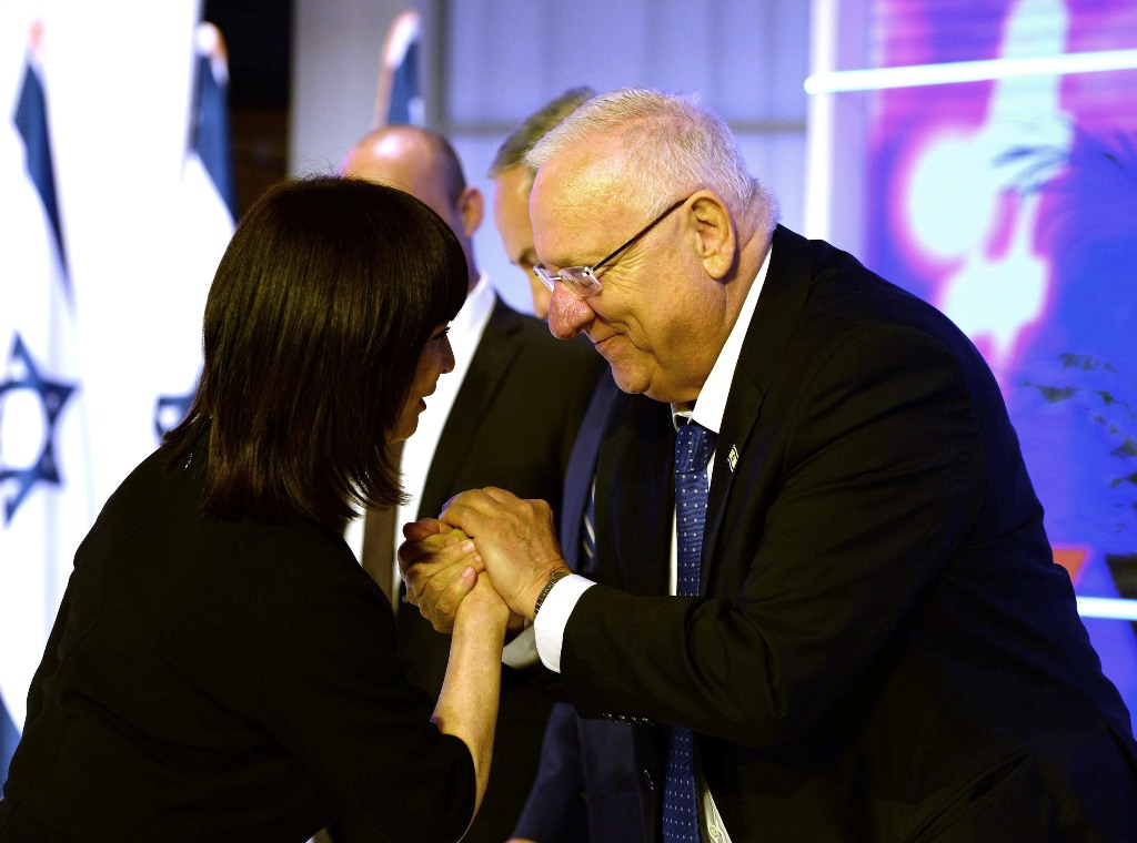 נורית עם נשיא המדינה ראובן ריבלין