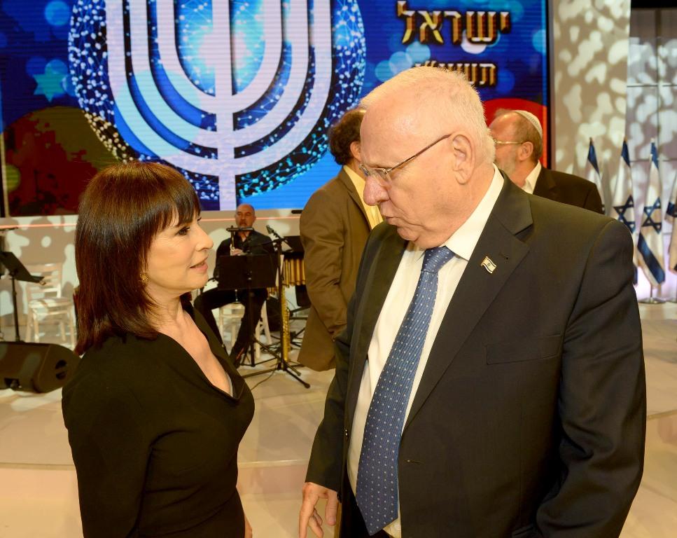 נורית הירש פרס ישראל 2016 עם הנשיא רובי ריבלין