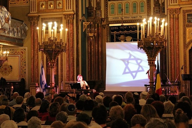 נורית בהופעה בית הכנסת הגדול בבוקרסט-רומניה