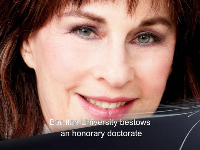 נורית הירש מקבלת תואר דוקטור לשם כבוד מאוניברסיטת בר-אילן 2016
